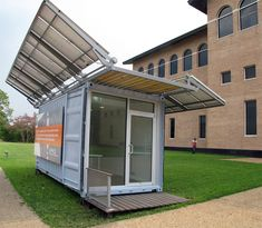 houston-based practice metalab in collaboration with the university of houston has designed and begun manufacture of 'SPACE',  a prototypical off-grid field office for the company adaptive container.