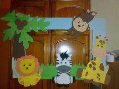 Classroom Door Displays, Safari Party, Vacation Bible School, Zoo Animals, Having A Baby, 5th Birthday, Nursery Art, Minions, Bb
