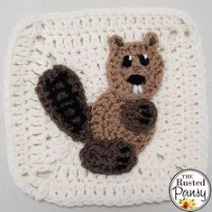 gratis free:WIP 05/15/17 Woodland Themed Afghan My New Beaver Applique Well I received the crochet vacation I was wanting a little early. My 6 year old daughter was home sick all last week. I havent picked up a crochet hook since the beginning of the month. Ugh. So the last applique I finished was this little beaver.