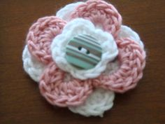 Free Crochet Patterns, Three Layered Flowers Crochet Flowers Fun! ♡ Teresa Restegui http://www.pinterest.com/teretegui/ ♡
