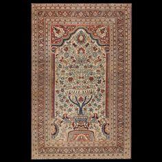 Mood Rug - 21683 | Persian Formal |color: Gold, Origin: Persia, Circa: 1880  #antiquerug #rahmanan #persianeug #antiquerugstudio #nyc,