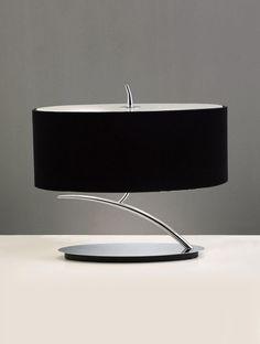 Sobremesa cromo negro ovalado EVE - La Casa de la Lámpara