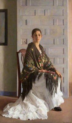 The Blue Door (Consuelo VII), 1919, by Gerald kelly (1879-1972)