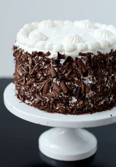 Black Forest Cake! I think I asked my mom to get me this cake for every single birthday :D