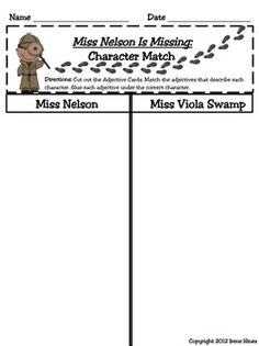 Worksheets Miss Nelson Is Missing Worksheets activities words and graphic organizers on pinterest miss nelson unit this is now for all three books 178 pages check the feedback best seller missingquo