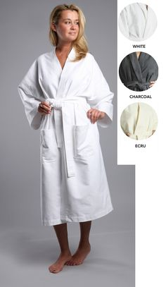Buy Chamois Microfiber Unisex Kimono Robe - White - and shop more latest Women's Sleepwear all over the world. Long Kimono, Sleepwear Women, Flannel, Unisex, Clothes For Women, Womens Fashion, Cotton, Shopping, Things To Sell