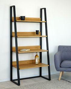 Krásná a jedinečná knihovna Tuco s masivními dobovými deskami Ladder Bookcase, Shelves, Instagram, Home Decor, Shelving, Decoration Home, Room Decor, Shelving Units, Home Interior Design