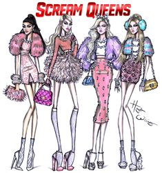 Hayden Williams Fashion Illustrations: Scream Queens by Hayden Williams