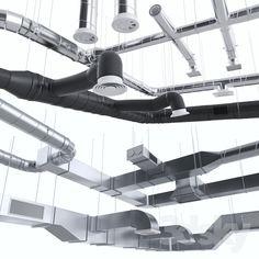 Ventilation system Hvac Ductwork, Hvac Design, Sketchup Model, Garage Remodel, Heating And Air Conditioning, 3d Warehouse, Ventilation System, Gaines, Ceiling Design
