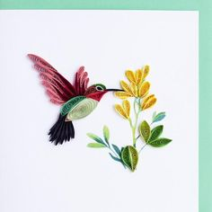 """Zoom in and look closely! Awesome! Fine quilling of vibrant colors. This is our most popular card. These cards are so impressive and have such a """"wow"""" factor that they will become a treasured keepsake"""