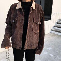 Jolly Club - Corduroy Button Jacket kfashion, aesthetic fashion, korean fashion, asian fashion, ulzzang