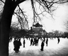 Ice skaters were a common sight on Belle Isle in 1915. Detroit's icy winters have been a draw for the skating set for many years, whether for recreation, entertainment, sports or competition. (Detroit News Archives)