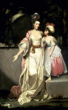 Portrait of Mrs. Jelf Powis and Her Daughter, 1777   GEORGE ROMNEY  English, 1734 - 1802  Romney features in SALT BRIDE. Jane will have her portrait painted by him.