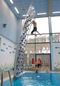 Climbing wall with a difference