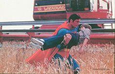 Superman III - Publicity still of Christopher Reeve & Paul Kaethler