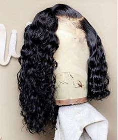 Pre Plucked Water Wave Lace Front Bob Wigs 150 Density Swiss Lace With Baby Hair Bleached Knots Wig Styles, Curly Hair Styles, Natural Hair Styles, Natural Hair Weaves, Baddie Hairstyles, Weave Hairstyles, Saree Hairstyles, Casual Hairstyles, Funky Hairstyles