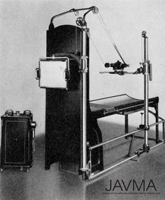 What a veterinary radiography machine looked like in 1937. https://www.avma.org/News/JAVMANews/Pages/151015d.aspx?utm_source=pinterest&utm_medium=socmed&utm_campaign=vethistory