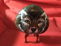 Painted by Sandra Jamieson. # - 585 - Signed - & - Dated. This Wolf looks like he really means business. Wouldn't want to meet him on a hiking path!!!