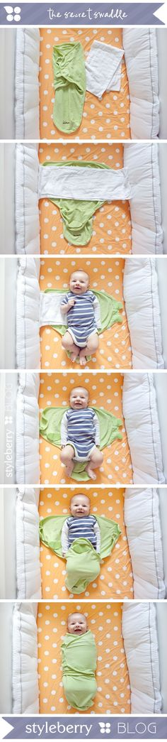 The Secret Swaddle...Tutorial & Video:   my sleep solution...how to get baby to sleep through the night.