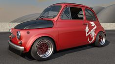 Desktop Picture rendered in Cinema Postwork done with Photoshop base carpaint by OsTin available @ [link] 1968 Fiat Abarth 595 147 Fiat, Fiat 500 Car, Fiat Cars, Fiat 600, Turin, 4x4, Fiat Abarth, Cute Cars, Small Cars