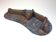 28mm 40k Large Barricade Resin Defense Line Trench Terrain Scenery ...