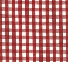Chester Berry/white Check Drapery Fabric by Roth and Tompkins at buyfabrics.com