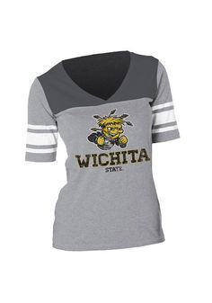 Wichita State Shockers Womens Slub Short Sleeve T-Shirt http://www.rallyhouse.com/shop/wichita-state-shockers-ladies-fit-tee-graphite-wsu-shockers-slub-cotton-short-sleeve-ladies-fit-tee-158469?utm_source=pinterest&utm_medium=social&utm_campaign=Pinterest-WSUShockers $25.99