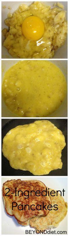1 banana + 1 egg = 2-Ingredient Pancakes