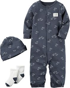 d8ff9574ba Carter's Baby Boys' 3 Piece Bodysuit Set Newborn Carter's https://www.