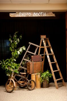 rustic photobooth. I want a fun reception would love to have a place for the guests to take pictures.