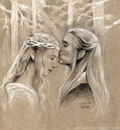 Galadriel and Celeborn. evankart: And there was great love between them. ― J.R.R. Tolkien, The Silmarillion