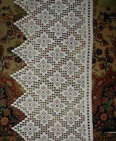 Social Media Advertising For Interior Designers - Crochet Filet - My Original Ideas Filet Crochet, Crochet Doily Diagram, Crochet Lace Edging, Granny Square Crochet Pattern, Crochet Borders, Crochet Doilies, Crochet Patterns, Crochet Curtain Pattern, Crochet Curtains