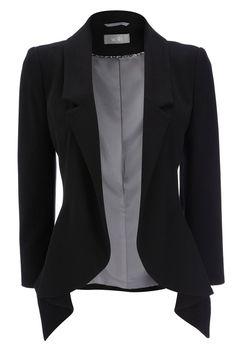 Beautiful Black Jacket- fashionable blazer. Dress it up!                                                                                                                                                      More