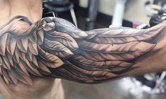 Shoulder Tattoos For Men - Badass Shoulder Tattoos For Men: Cool Shoulder Tattoo Designs and Ideas For Guys Cool Shoulder Tattoos, Mens Shoulder Tattoo, Best Sleeve Tattoos, Tattoos Arm Mann, Forearm Tattoos, Body Art Tattoos, Positive Tattoos, Tattoos Schulter, Wing Tattoo Men