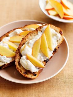 Cinnamon Raisin Toast with Honey-Walnut Spread. Perfect for breakfast or an afternoon snack.