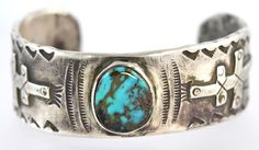 Amazing Artisan Made Pure Ingot Silver Turquoise Dragonfly Cross Men's Cuff Bracelet Turquoise Cuff, Vintage Turquoise, Turquoise Jewelry, Vintage Silver, Vintage Jewelry, Antique Jewelry, Jewelry Box, Jewellery, Indian Jewelry