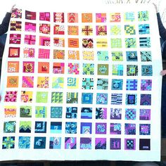 WIP #4 Tula Pink 100 Modern Blocks Updated My blog pictures truly don't do the quilt justice.  Check them out on Flickr! Tula Pink 100 Modern Blocks Gridlock in The Birds and the Bees The ori…