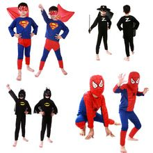 Halloween Costume For Kid Spider-man Superman Batman Zorro Costume Party Cosplay Supplies Outfit for Kids Head Mask Props(China (Mainland))