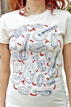 Make Music T-Shirt by tenderlovingempire on Etsy