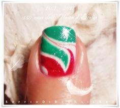 "Nail Art ""Italy""  1861 - 2011: 150 anni dall'Unità d'Italia"