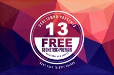 13 Free Geometric Backgrounds-Shapes