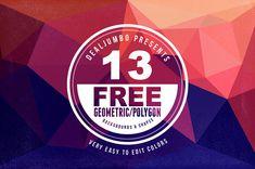 13 Free Geometric Backgrounds-Shapes