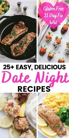 Looking for the perfect Date Night Recipes for a celebration, Anniversary, Valentine's Day or just a delicious dinner to make things feel fancy? Here are 25+ special date night dinner ideas [main, side, + dessert] that fit right in with the 21 Day Fix meal plan and WW, plus they are all Gluten Free! Date Night Dinners, Date Night Recipes, Gluten Free 21 Day Fix, Dinners To Make, Weeknight Dinners, 21 Day Fix Breakfast, Pasta With Alfredo Sauce, Cube Steak Recipes, 21 Day Fix Meal Plan