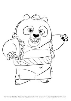 Learn How to Draw Bao from Kung Fu Panda 3 (Kung Fu Panda 3) Step by Step…