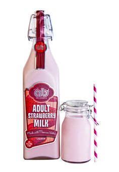 """Some friends make the """"Adult Chocolate Milk"""". And now have come out with """"Adult Strawberry Milk""""!"""
