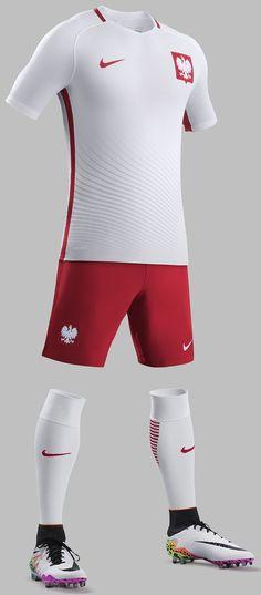 New Poland Euro 2016 Shirts- Nike reveal Polish kits Soccer Kits, Football Kits, Team Wear, Sport Wear, Soccer Outfits, Sport Outfits, Top Soccer, Unitards