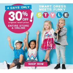 30% Off on Selected Styles @ Charlie & Me Kids - Bargain Bro