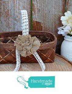 Flower Girl Basket, Flower Girls, Brown Home Decor, Burlap Flowers, Reception Decorations, Wedding Flowers, Shabby Chic, Baby Shower, Amazon