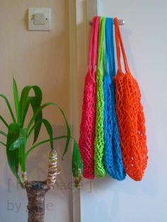 Crochet mesh shopping bags