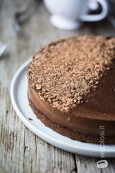 Cheesecake fredda vegan al cioccolato